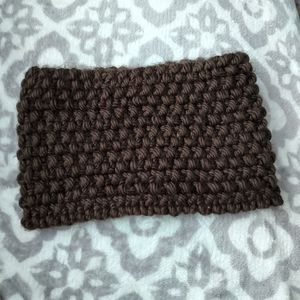 Handmade knitted cowl neck infinity scarf
